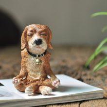 Dog Statue Meditating