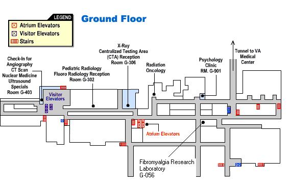 Map of Shands Ground Floor