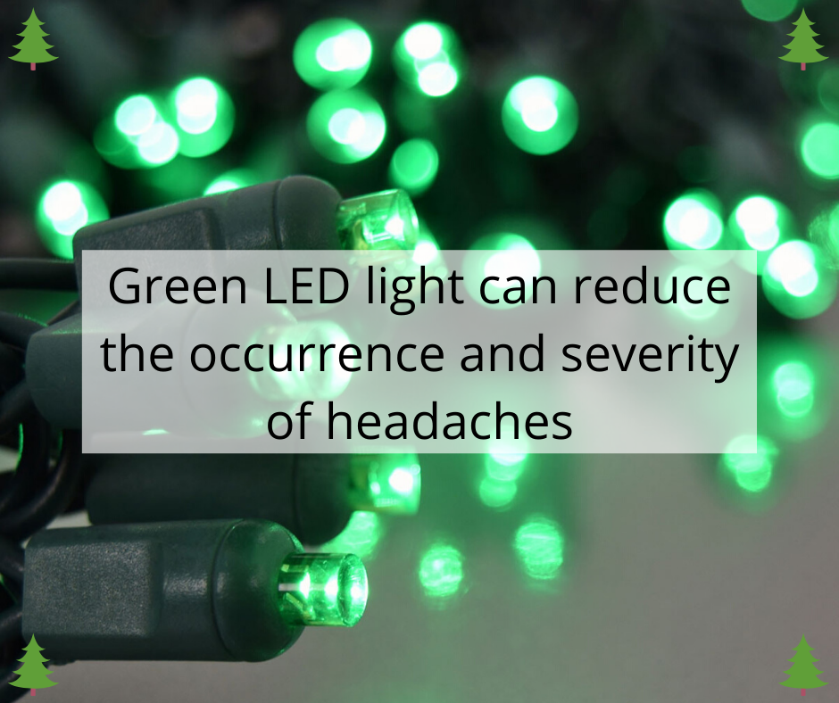 Green LED light can reduce the occurrence and severity of headaches
